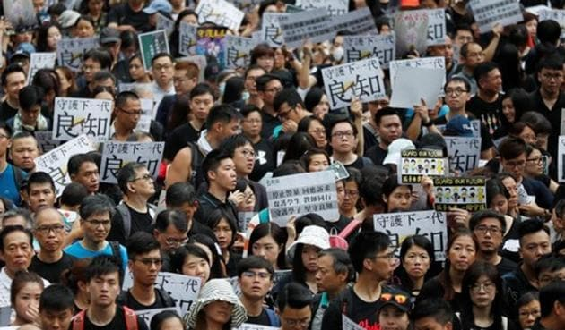 Protesters' Demands include democratic reforms in Hong Kong as well as the resignation of the city's Beijing-backed leader, Carrie Lam.(Reuters Photo)