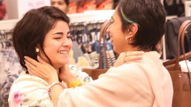 Sky is Pink director Shonali Bose with Zaira Wasim.