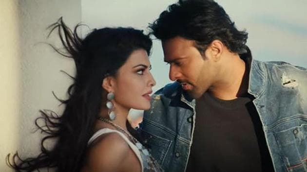 Jacqueline Fernandez and Prabhas in a scene from Saaho's song Bad Boy.