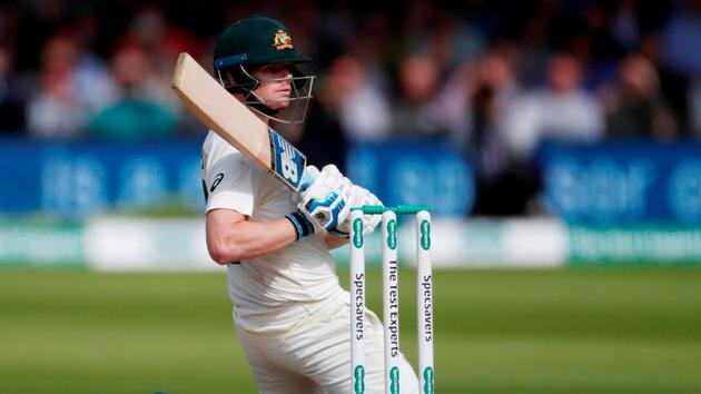 Australia's Steve Smith in action during the second Ashes 2019 Test.(Action Images via Reuters)
