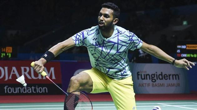 HS Prannoy defeated Lin Dan in the World Championships.(Twitter)