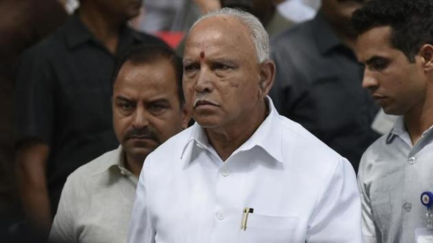 The Karnataka Cabinet composition also indicated that the BJP was willing to reward the Lingayat community, which supports the BJP to a large extent, as it had eight Lingayats including Yediyurappa.(Vipin Kumar/HT File PHOTO)