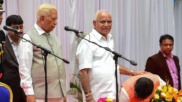 The BJP lost the assembly elections held two years later, a defeat that is blamed in the BJP on Yediyurappa's power play and the swirling controversies around him.(PTI)