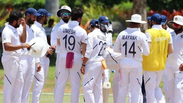 India vs West Indies: India cricketers gear up for the first Test Antigua(BCCI)