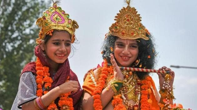 Janmashtami is a festival which is celebrated with a lot of fervor and excitement every year, and marks the birth anniversary of Lord Krishna.(PTI)