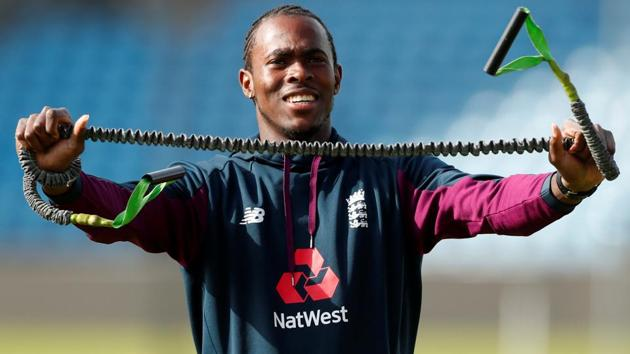 England's Jofra Archer during nets.(Action Images via Reuters)