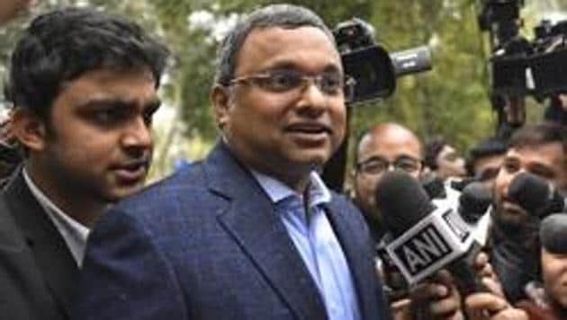 Karti Chidambaram is an accused in INX Media money laundering case.(HT Photo)