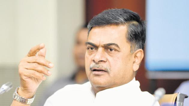 Union power and new and renewable energy minister Raj Kumar Singh.(Ramesh Pathania/HT Photo)