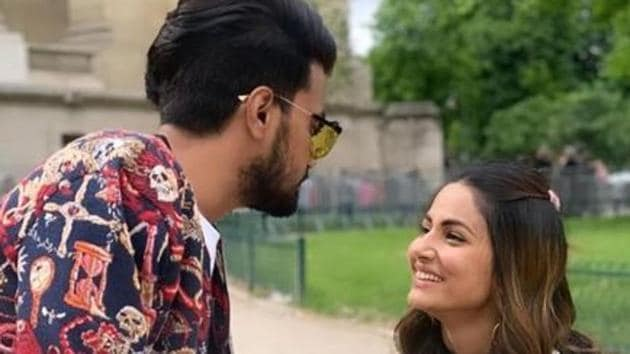 Hina Khan has been in a steady relationship with Rocky Jaiswal.(Instagram)