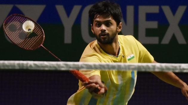A file photo of Indian badminton player B Sai Praneeth.(Vipin Kumar/HT PHOTO)
