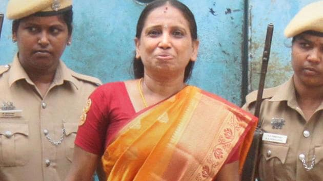 Nalini Sriharan, one of the seven convicts in the Rajiv Gandhi assassination case, got an extension in her parole.(PTI photo)