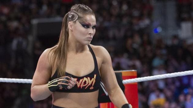 Ronda Rousey suffered a horrible injury on film set.(Source: WWE)