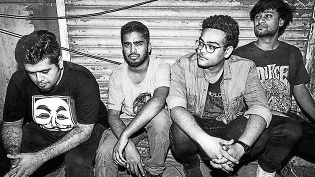 Members of the Mumbai-based band Pacifist; and (right) Rana Ghose.(HT Photo)