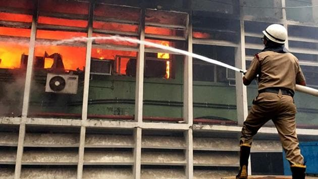 Hospital fires, like in the case of AIIMS, usually are caused by a short circuit.(ANI PHOTO.)