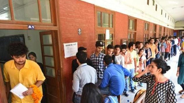 Nominations for student union elections were filed across 14 universities and colleges. (representational image)(Sushil Kumar/HT PHOTO)
