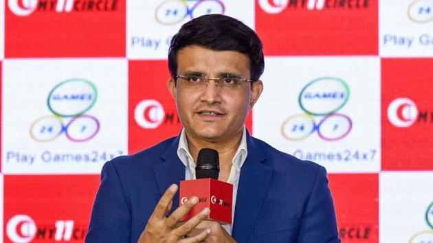 Former cricketer and 'My 11 Circle' brand ambassador Sourav Ganguly.(PTI)