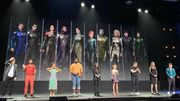 The cast of Eternals at D23 Expo.