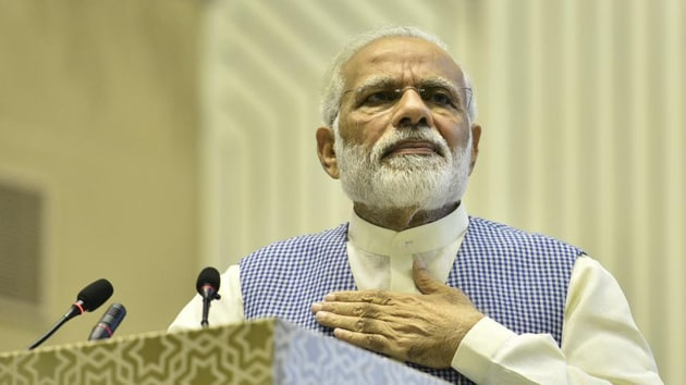 Modi had spoken in the last episode of the radio programme in February this year.(HT image)