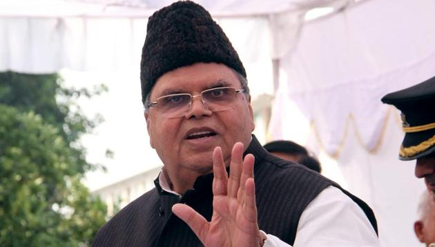 Jammu and Kashmir Governor Satya Pal Malik has said that communication curbs helped save many lives in Jammu and Kashmir after the abrogation of Article 370.(HT file photo)