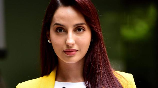 Nora Fatehi poses during the promotion of Batla House, in Mumbai.(AFP)