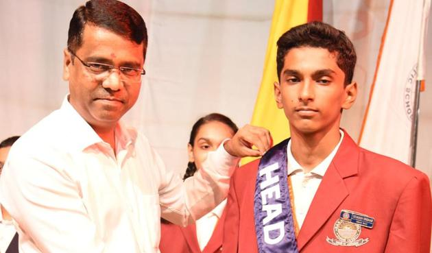 DAV Public School, Thane, recently organised its investiture ceremony.(HT PHTOTO)