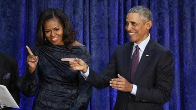 The former US president and first lady, who are known for sharing their favourite books and songs, chose a diverse selection of artists for their latest playlist, and it is as relatable as it can get.(Reuters)