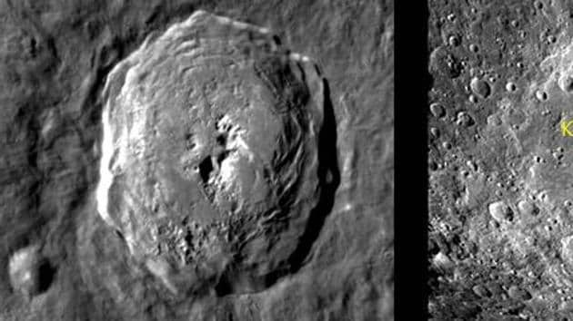 Chandrayaan-2 captured some images of the lunar surface.(ISRO image)