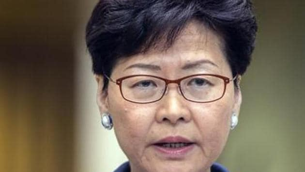 Hong Kong leader Carrie Lam, announced last week that she is creating a platform for dialogue and said that it would include protesters.(Bloomberg Photo)