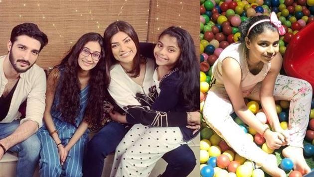 Sushmita Sen's younger daughter Alisah turned 10 this year.