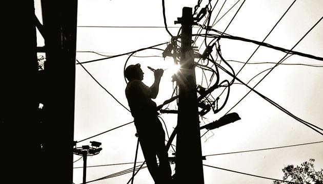 A review of the power sector in the North East regions was held by Union power minister RK Singh on Tuesday.(HT PHOTO.)
