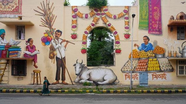 The changing face of Lodhi District; murals supported by Asian Paints.(Asian Paints)