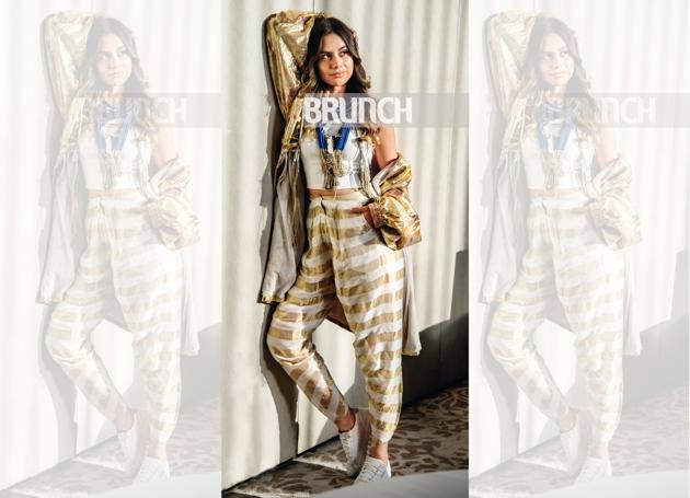 Curating ourselves to perfection can be soul-depleting (Model: Yenifer. On Yenifer: Pants, Rajesh Pratap Singh; ganji, Zara; jacket, NorBlack NorWhite; jewellery, En Inde; shoes, Adidas Originals)(Photo shot exclusively for HT Brunch by Hari Nair)