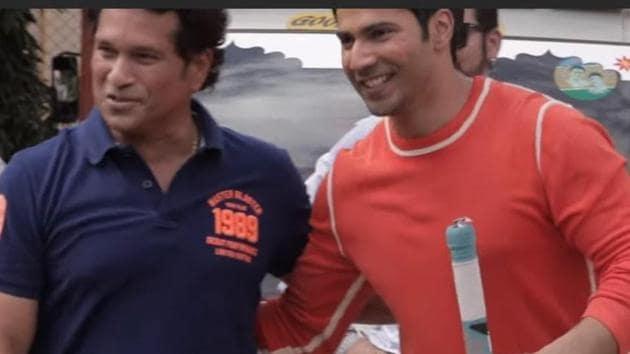 Varun Dhawan meets Sachin Tendulkar on the first episode of his YouTube show Mango Man.