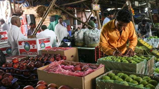 APMC market in Vashi.(HT Photo)