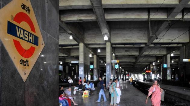 Vashi Railway Station, Navi Mumbai.(HT Photo)