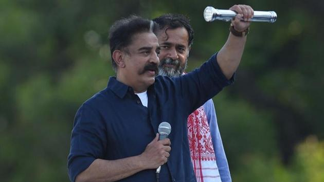 With the acquisition of the TV channel and Kamal Hassan's proposed state-wide tour from November 7, coinciding with the actor's birthday, the party is making a determined bid to be an alternative to the two dominant Dravidian parties, the ruling AIADMK and the opposition DMK.(ANI PHOTO.)