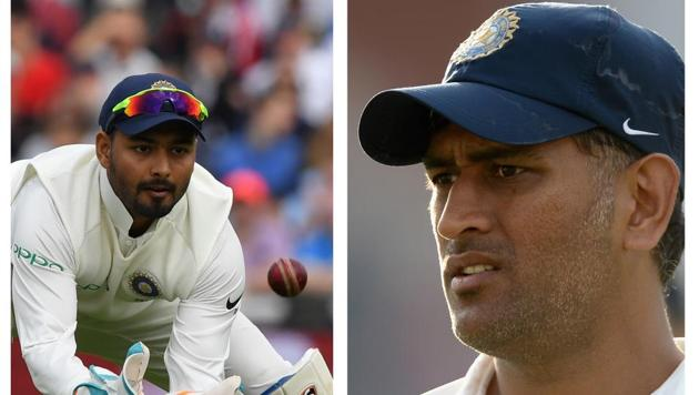 Pant toppled Dhoni(HT Collage)