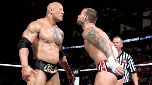 CM Punk during his match with Dwayne 'The Rock' Johnson at WWE Royal Rumble.(WWE)