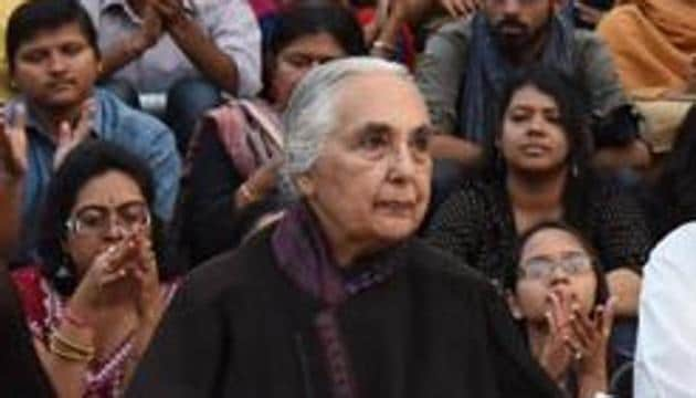 Congress leader Shashi Tharoor joined the outrage over Jawaharlal Nehru University seeking historian Romila Thapar's CV for assessment for her continuation as professor emerita at the Delhi institution.(Hindustan Times)