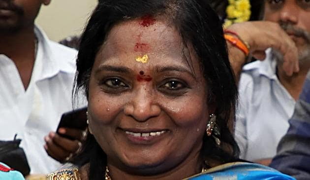 Governor of Telangana Tamilisai Soundararajan .(ANI Photo)