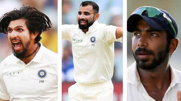 Indian pace trio has been menacing(HT Collage)