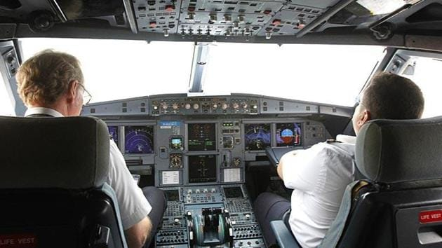 DGCA, in an order issued on Tuesday, has said that for the safety of aircraft operations, no person is allowed to enter the cockpit and occupy the jump seat. The regulator, however, has given some exemptions. (Image used for representational purpose).(REUTERS PHOTO.)