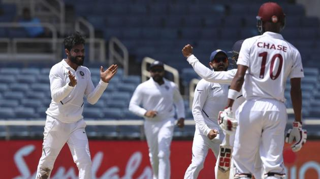 India vs West Indies 2nd Test Day 4: Follow Highlights of Day 4 of the 2nd Test match between India and West Indies.(AP)