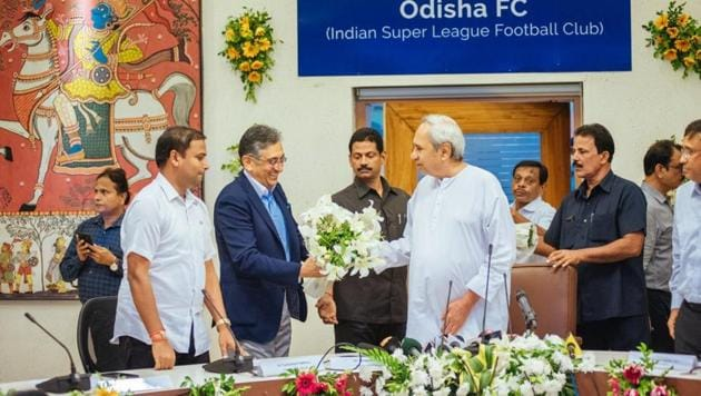 Delhi Dynamos recently relocated their base from the national capital to Bhubaneswar, Odisha after playing for five years in the Indian Super League at the Jawaharlal Nehru Stadium, New Delhi.(Twitter/ Pinaki Mishara, MP Puri)