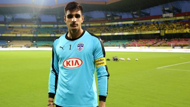 Gurpreet Singh Sandhu, India football team goal keeper(Faheem Hussain /SPORTZPICS for ISL)