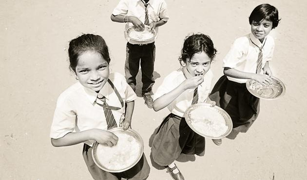 Adding milk and eggs to the meal would help aid child nutrition and prevent stunting(Parwaz Khan/Hindustan Times)