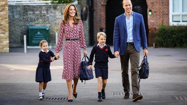 The 4-year-old entered the school with her family.(Instagram/@kensingtonroyal)