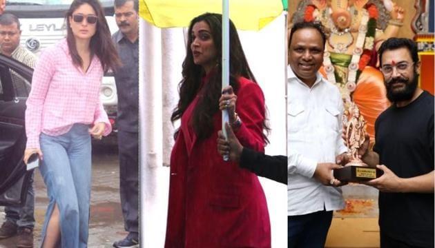 Kareena Kapoor, Deepika Padukone and Aamir Khan spotted in Mumbai.(Varinder Chawla)