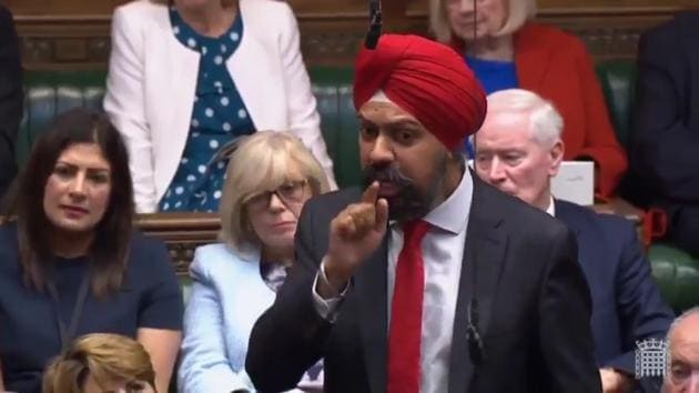 British MP Tanmanjeet Singh Dhesi launched a scathing attack on PM Boris Johnson over his past remarks on Muslim women. He demanded an apology from Johnson and said that such remarks have led to a surge in hate crimes in the country. Mr Dhesi received applause from fellow Opposition Labour party MPs. Dhesi, who is the first turban-wearing Sikh MP in British history also challenged the British prime minister to order an investigation into alleged Islamophobia within his own Conservative Party.