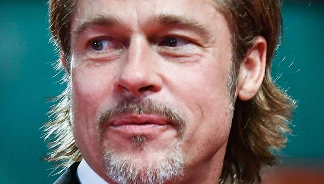 Brad Pitt arrives for the screening of the film Ad Astra during the 76th Venice Film Festival at Venice Lido.(AFP)